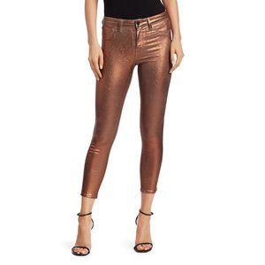 NEW! L'agence Margot Metallic High-Rise Jeans 24